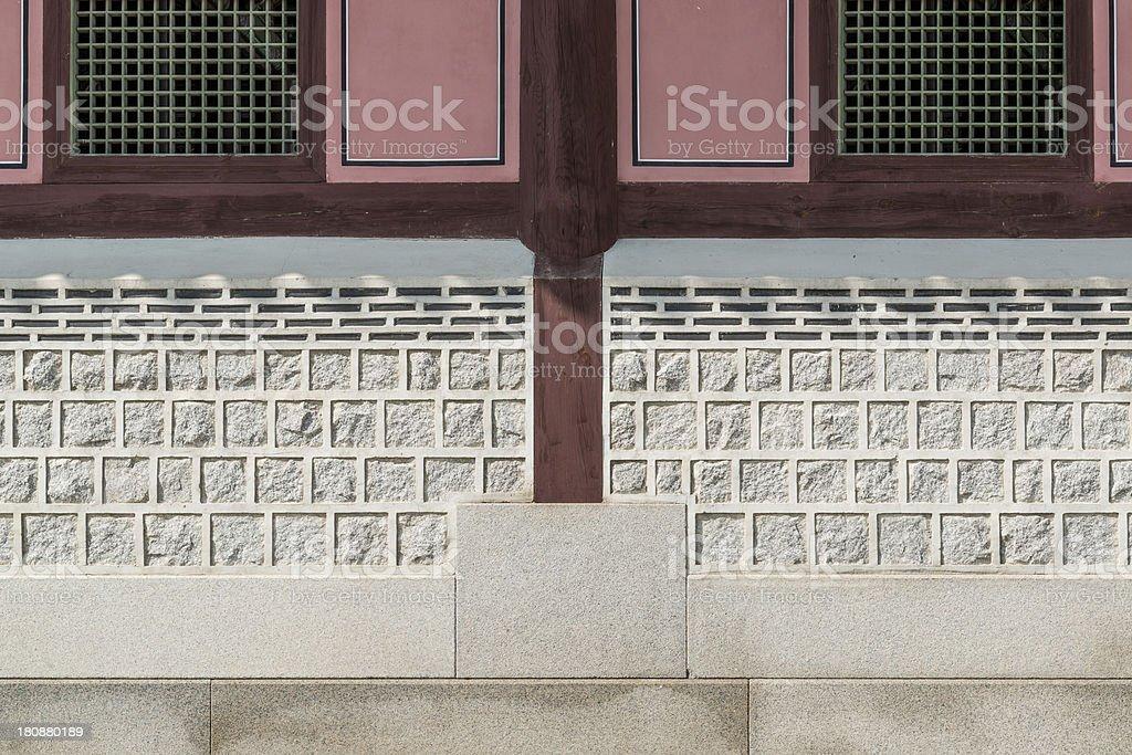 Korea's traditional wall stock photo