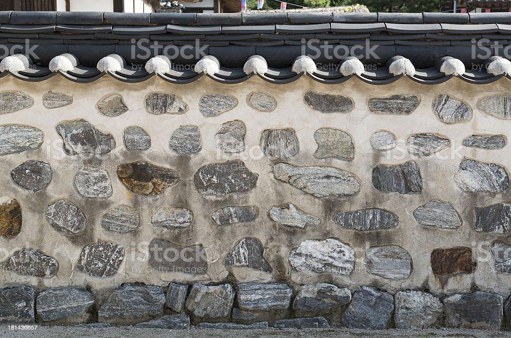 Korea's traditional wall royalty-free stock photo