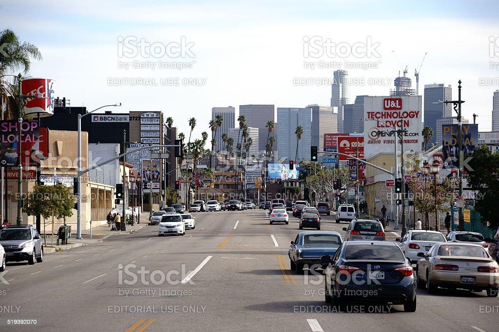 Koreatown Los Angeles stock photo