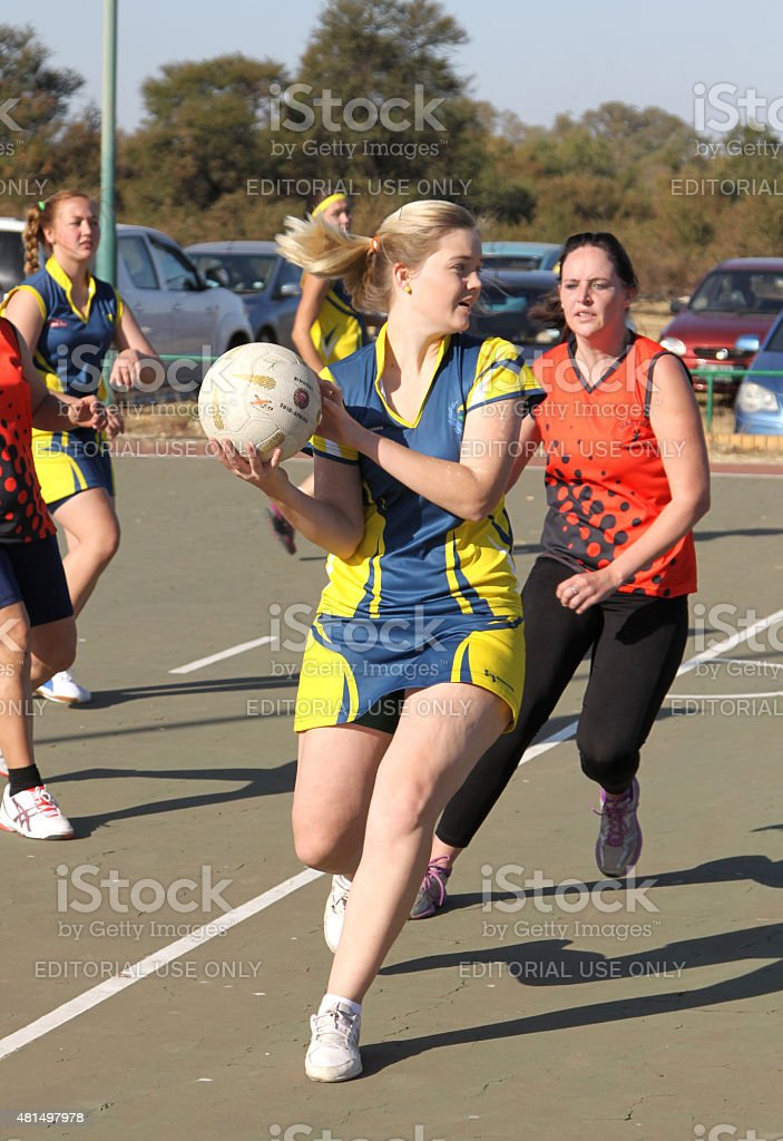 Korfball League Ladies games stock photo