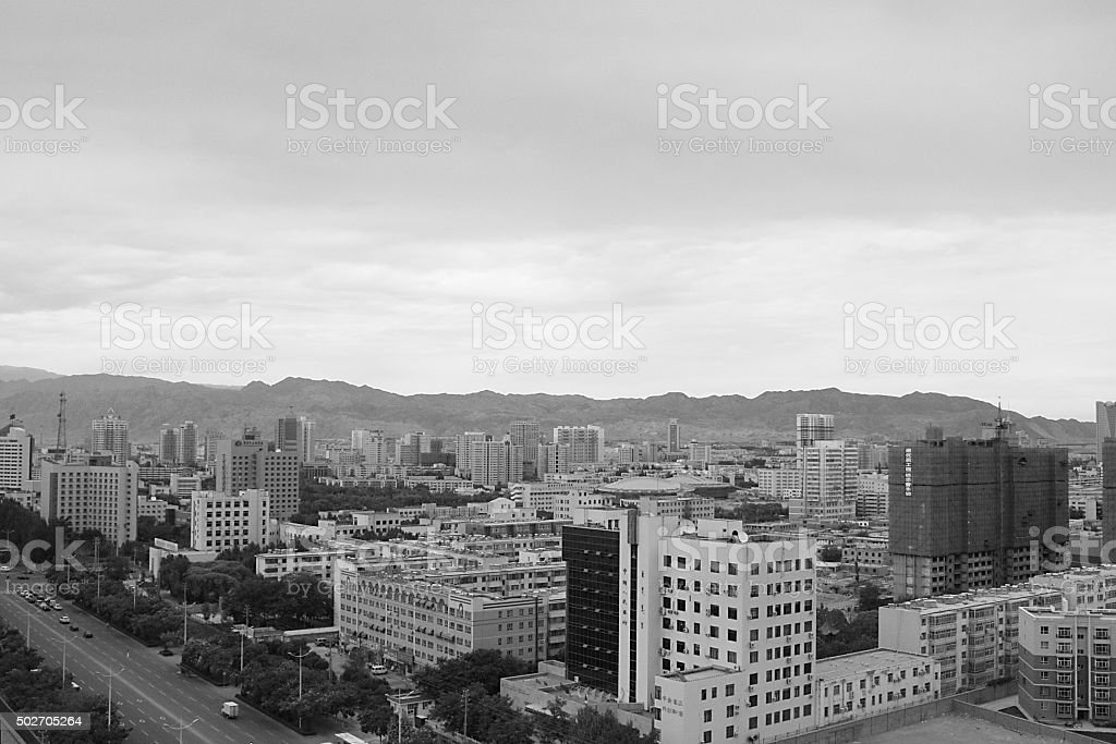 Korla City stock photo