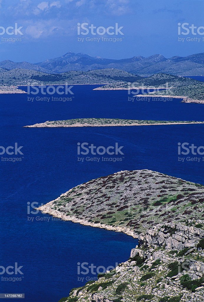 kornati archipelago royalty-free stock photo