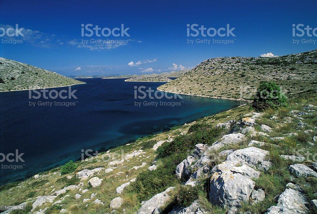 kornati archipelago royalty-free stock photo