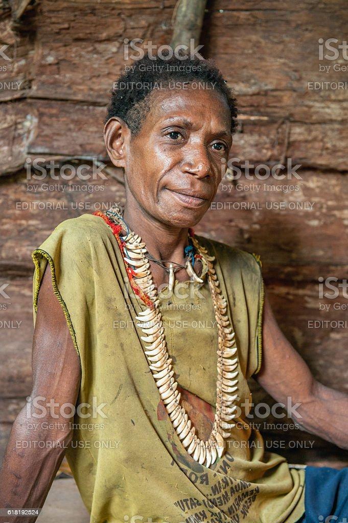 Korowai woman stock photo