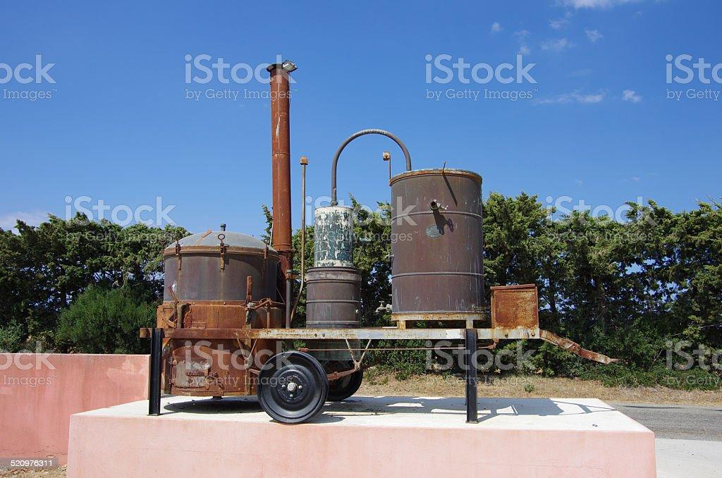 Korsika Distilling Machine stock photo