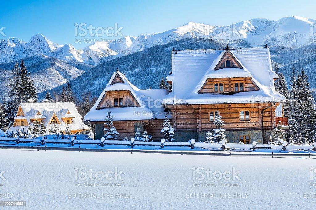 Koscielisko village, Poland stock photo