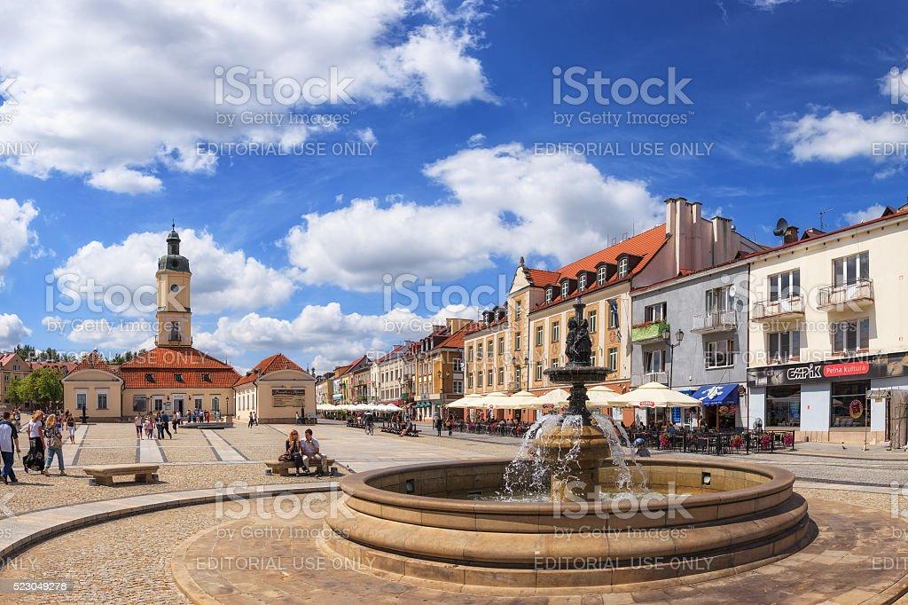 Kosciusko Main Square in Bialystok stock photo
