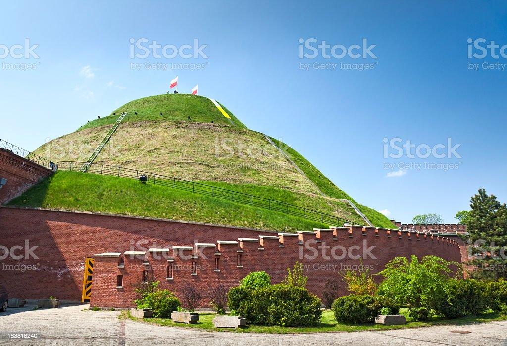 Kosciuszko Mound in Krakow, Poland stock photo