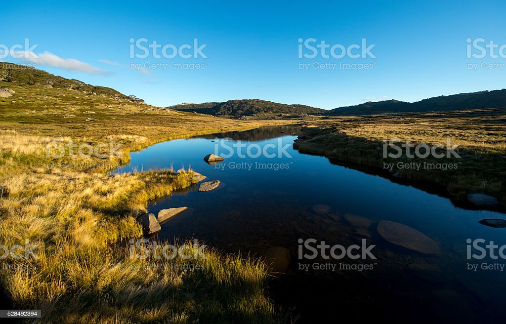 kosciuszko national park stock photo