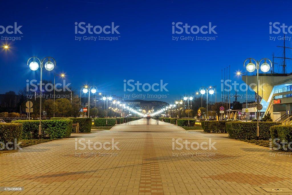 Kosciuszko Square in Gdynia stock photo