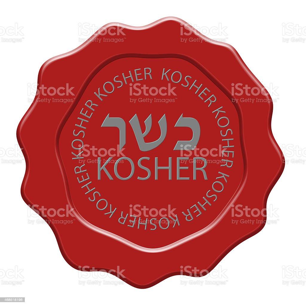 Kosher wax seal illustration stock photo