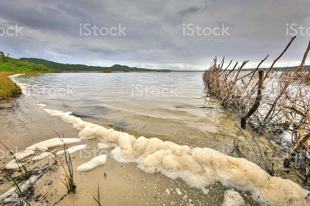 Kosi bay estuary stock photo