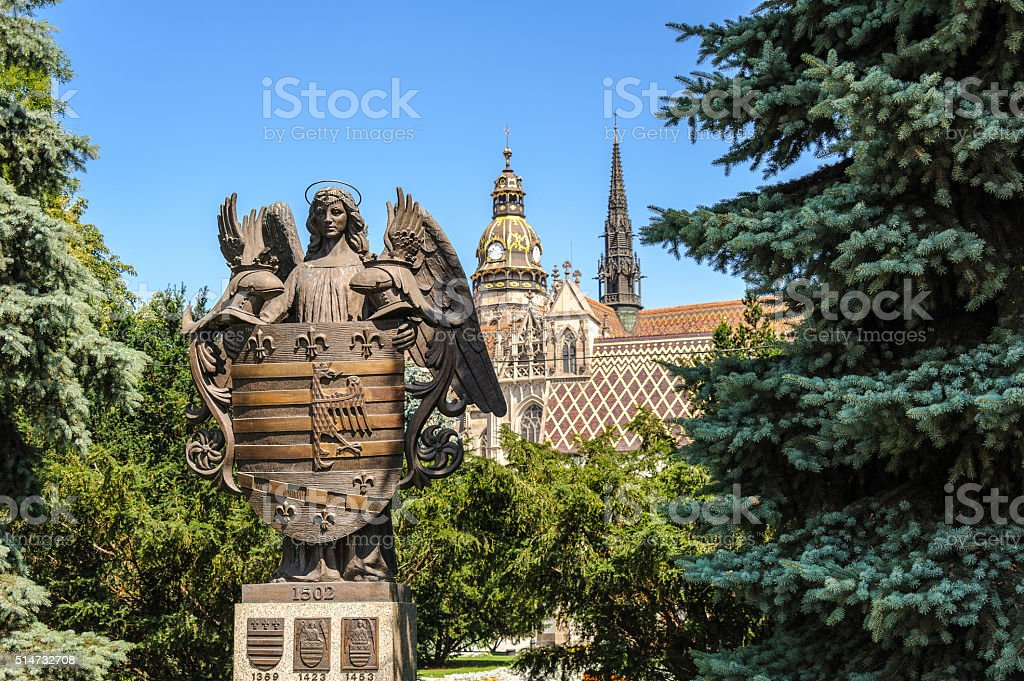 Kosice Coat of arms stock photo