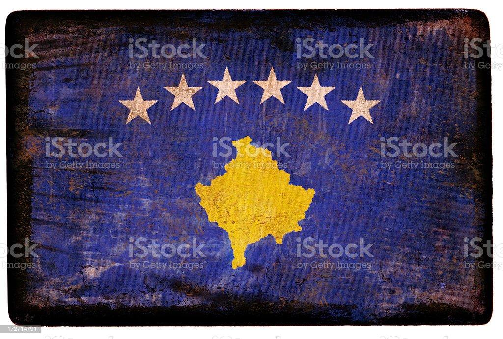 Kosovo Flag XXL royalty-free stock photo