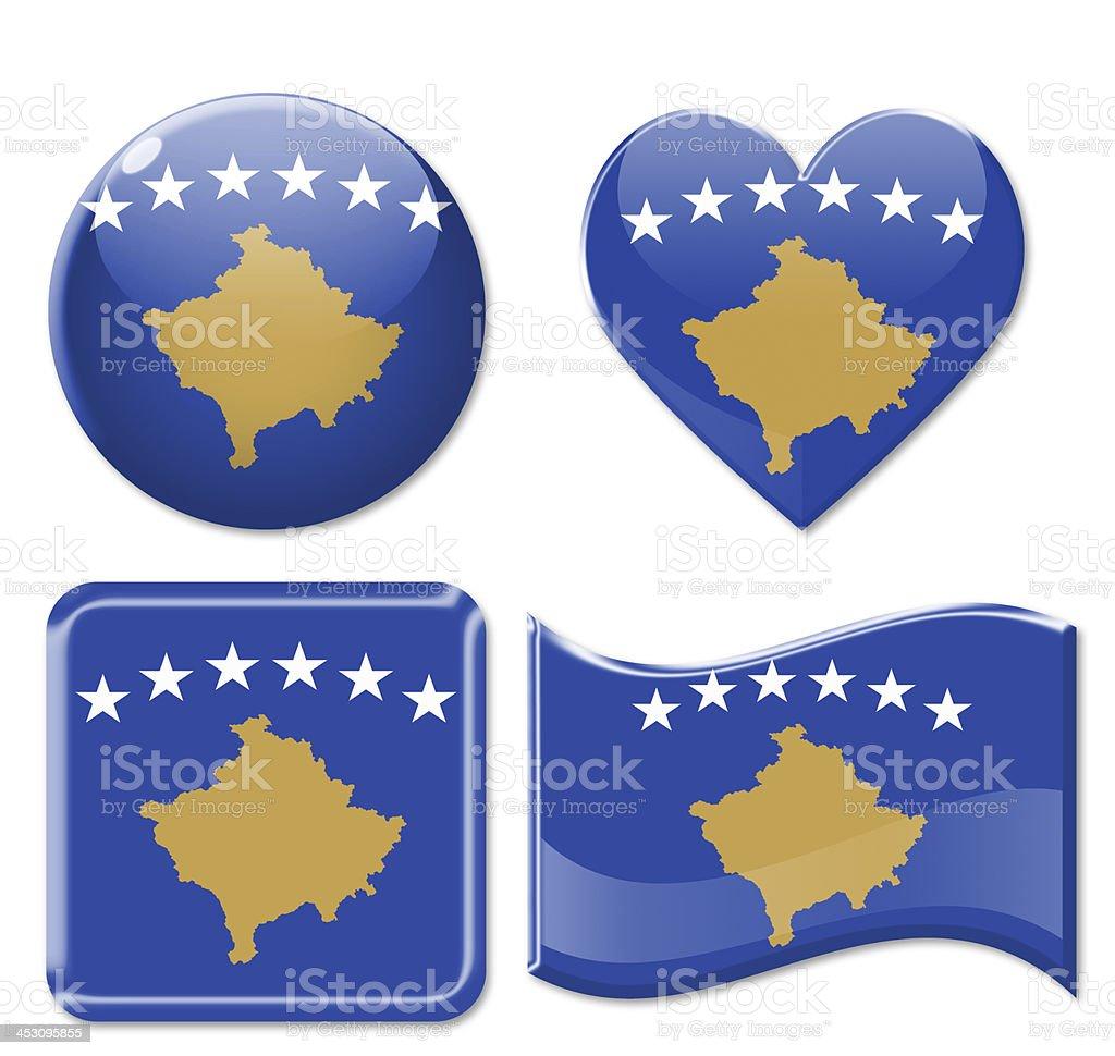 Kosovo Flags & Icon Set stock photo