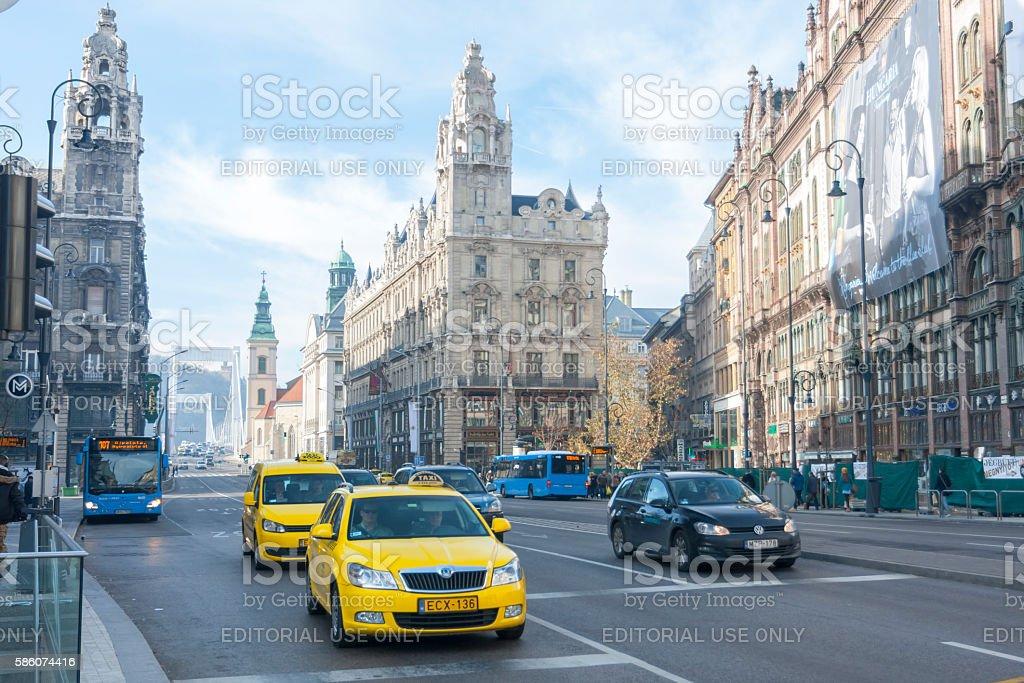 Kossuth Lajos Street stock photo