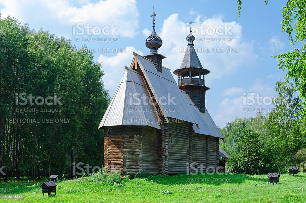 Kostroma Architectural-Ethnographic and Landscape Museum-Reserve Kostromskaya Sloboda, Russia stock photo