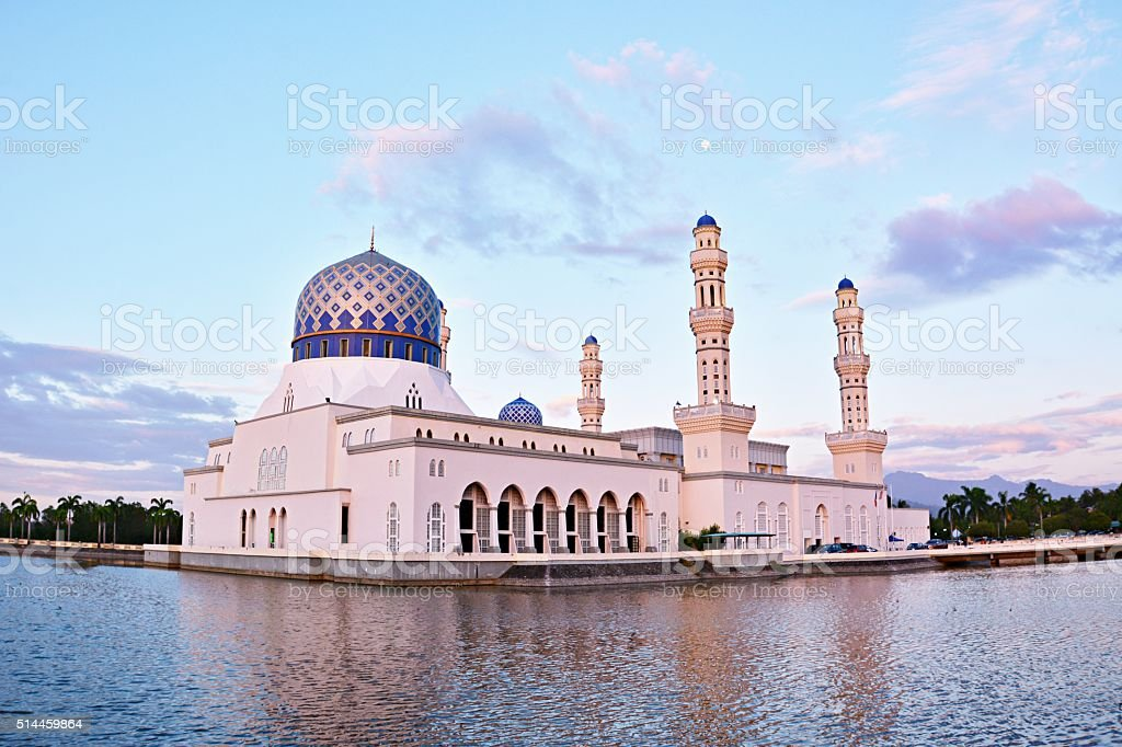 Kota Kinabalu City Floating Mosque stock photo