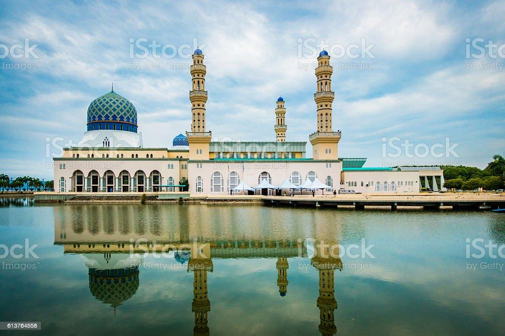 Kota Kinabalu city mosque, Malaysia stock photo