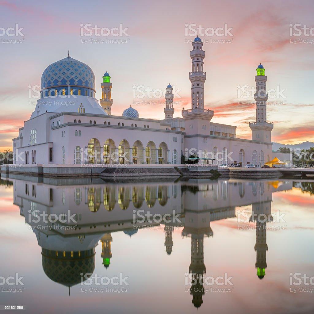 Kota Kinabalu City Mosque stock photo