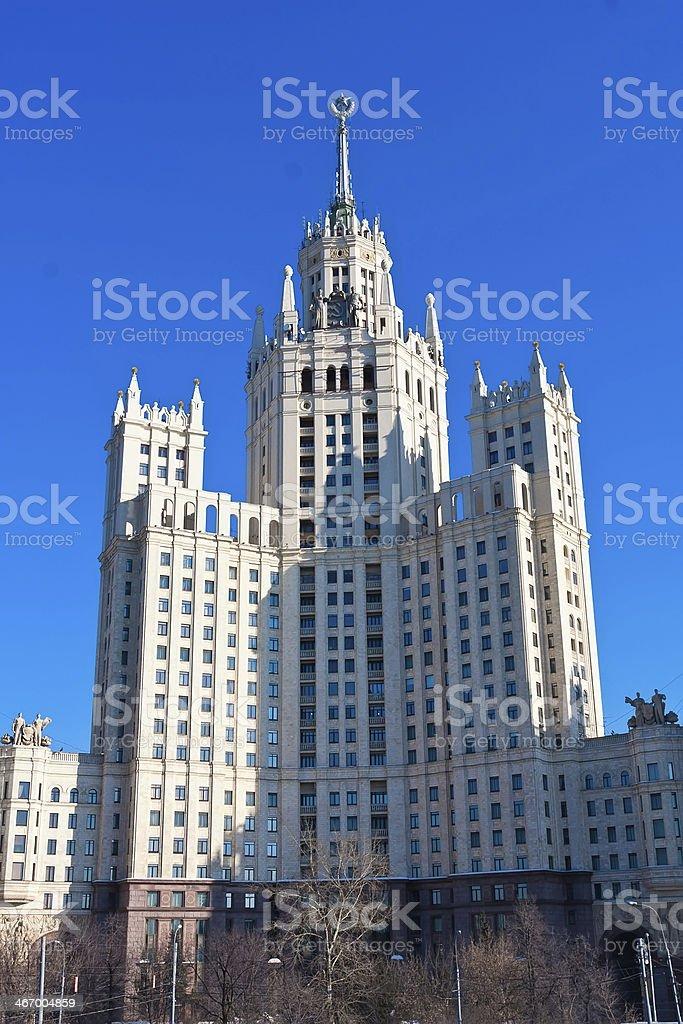 Kotelnicheskaya Embankment Building stock photo
