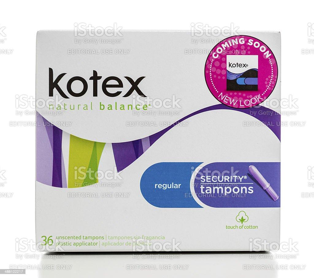 Kotex regular security tampons stock photo