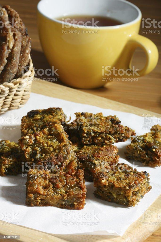 Kothimbir Vadi -  is a starter snack from Maharashtra stock photo