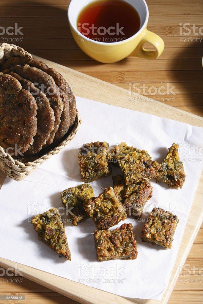 Kothimbir Vadi -  is a starter snack stock photo