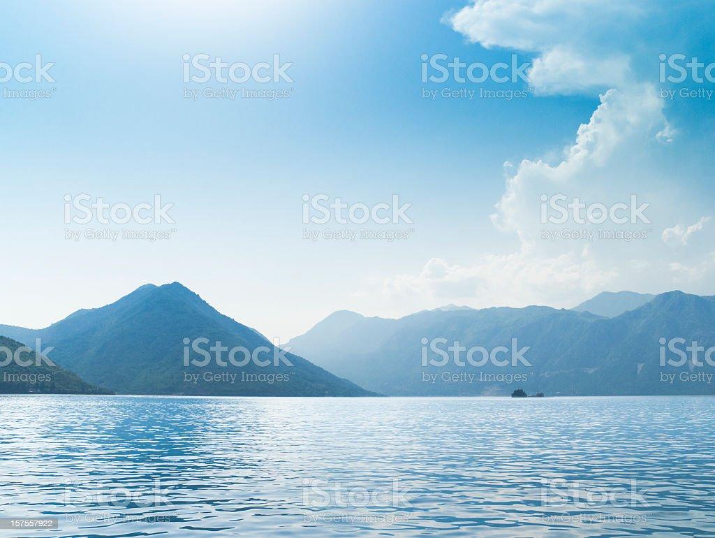 Kotor Bay in Montenegro stock photo