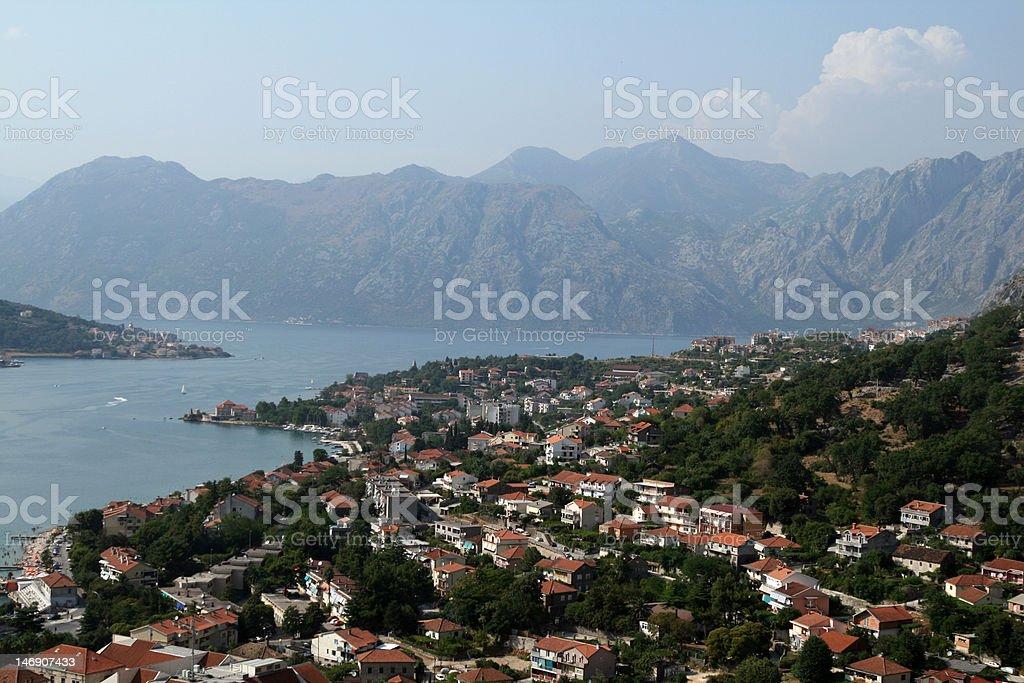 Kotor bay royalty-free stock photo