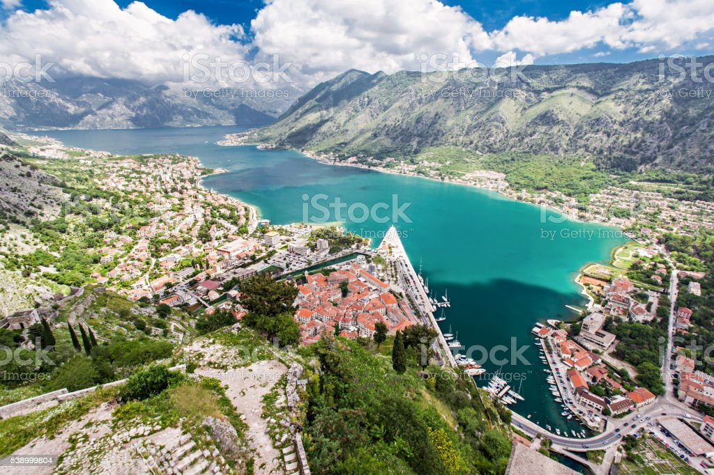 Kotor Bay stock photo