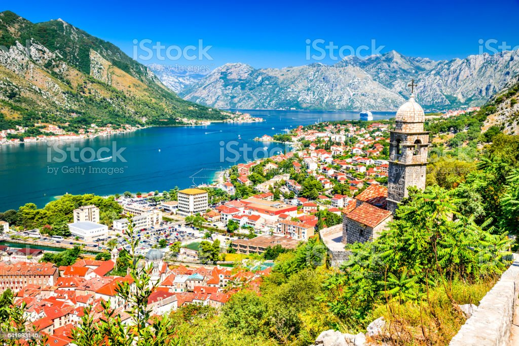 Kotor, Montenegro, Adriatic Sea stock photo