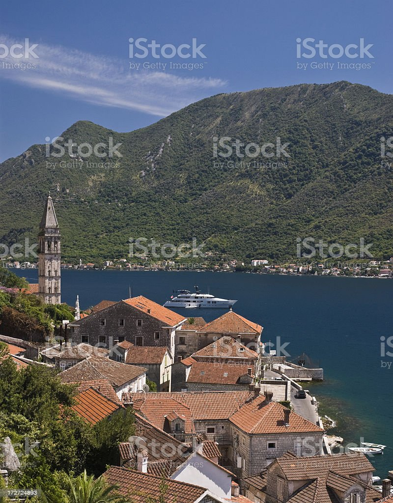 Kotor, the mediterrian town stock photo