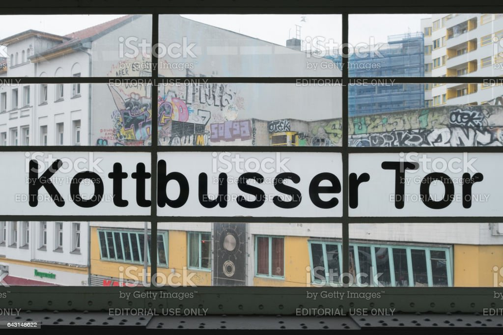 Kottbusser Tor in Berlin, Kreuzberg stock photo