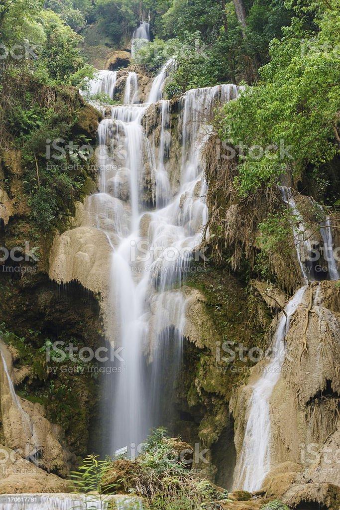 kouangxi water fall royalty-free stock photo
