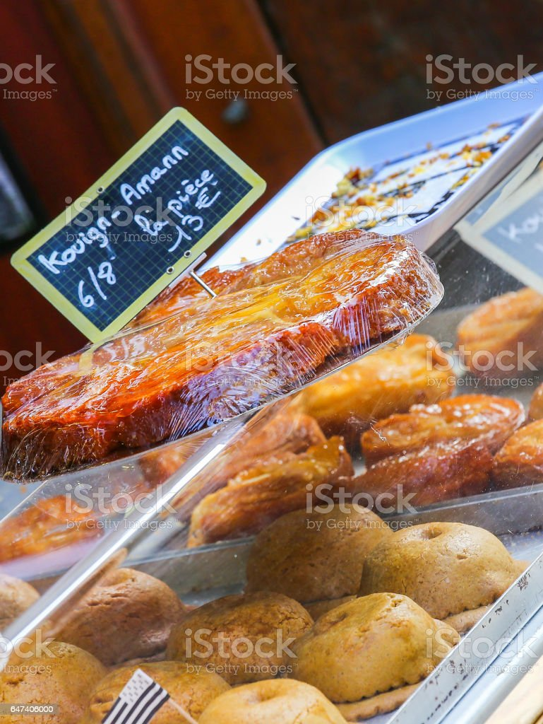 kouign amann traditional french sweet from britany stock photo