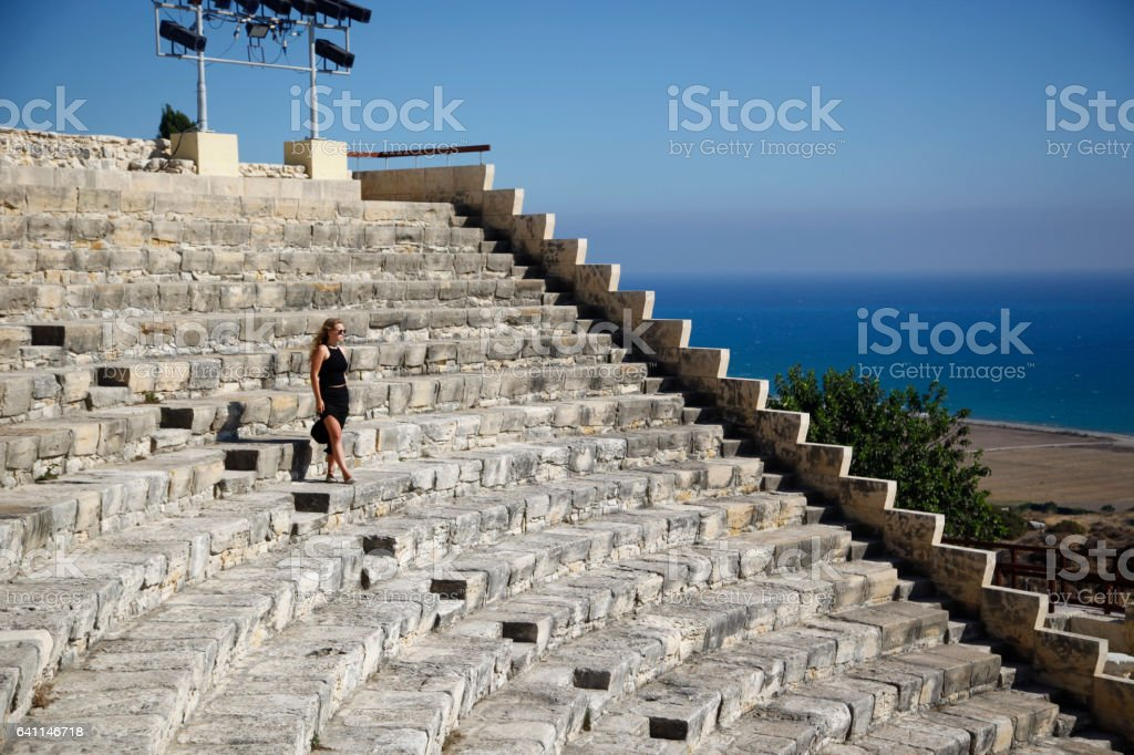 Kourion amphitheater stock photo