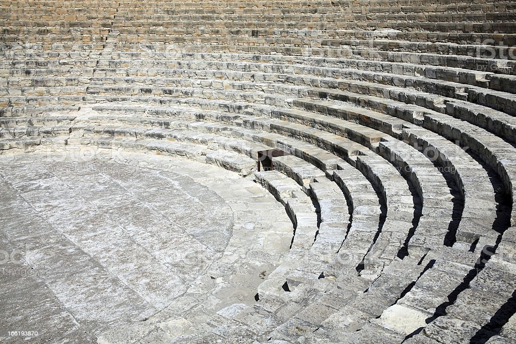 Kourion Amphitheatre stock photo
