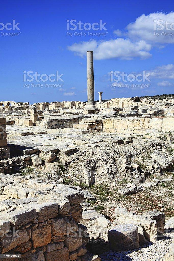 Kourion, Cyprus royalty-free stock photo