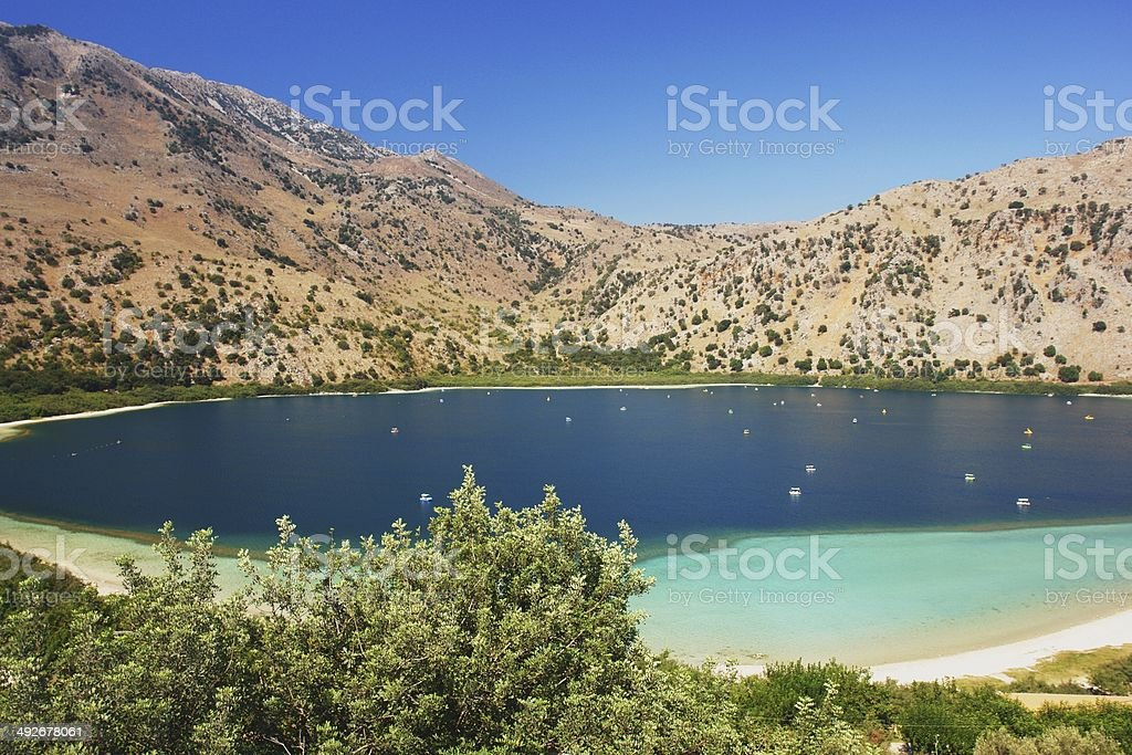 Kourna Lake, Crete stock photo
