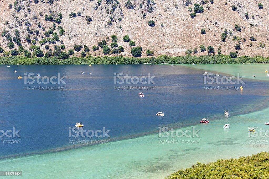 Kourna Lake stock photo