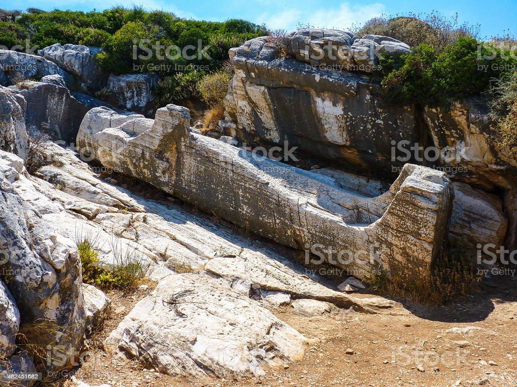 Kouros statue stock photo