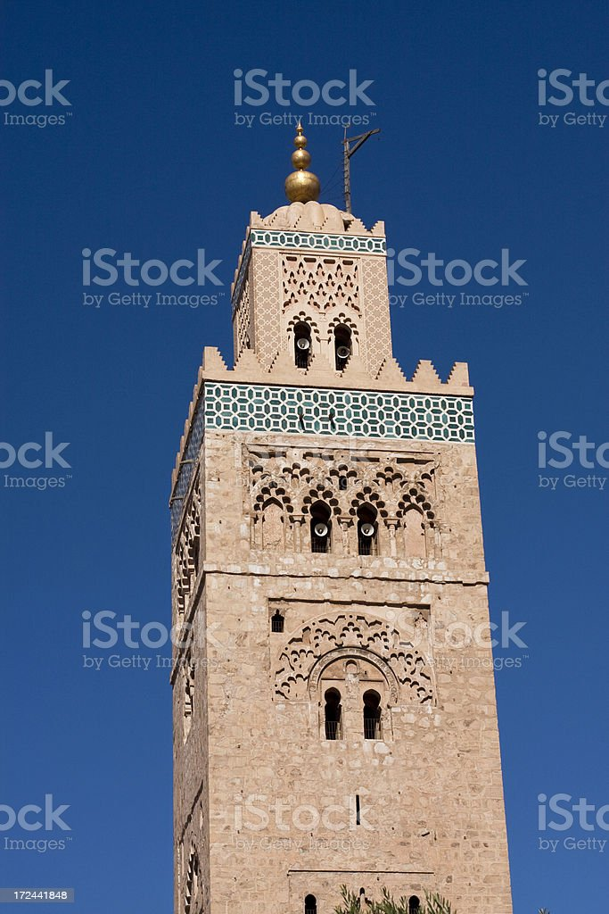 Koutoubia Mosque, Marrakech, Morocco royalty-free stock photo