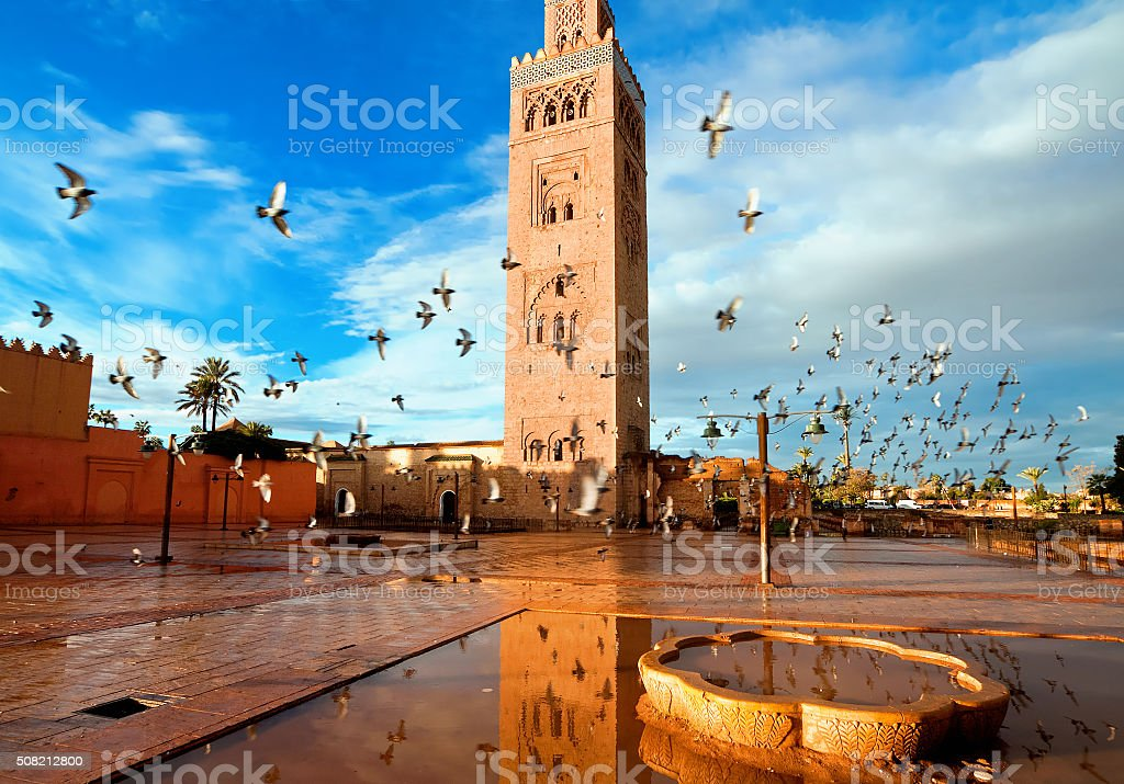 Koutoubia mosque, Marrakech, Morocco stock photo