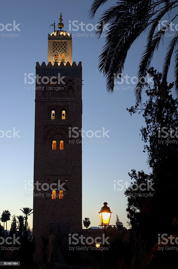 Koutoubia Mosque Morocco royalty-free stock photo