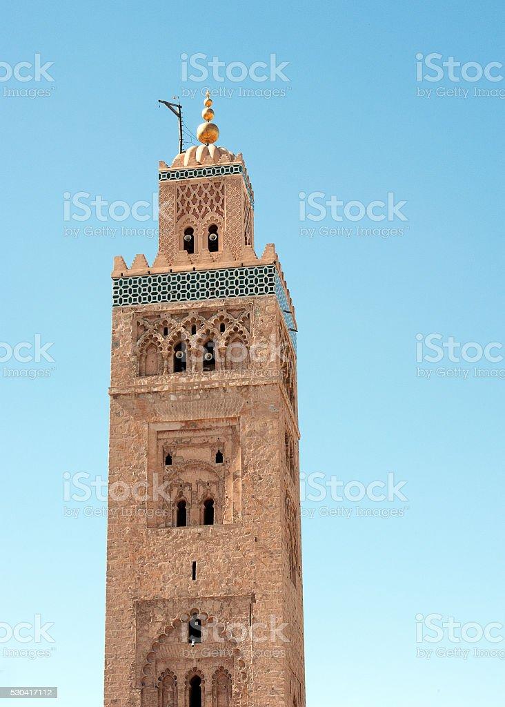 Koutoubia Mosque muezzin tower, Marrakech, Morocco stock photo