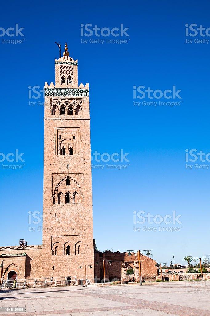 Koutoubia mosque stock photo