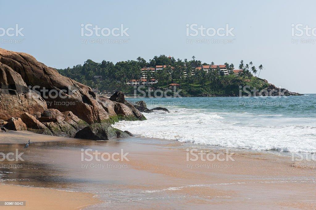 Kovalam Beach Serenity stock photo
