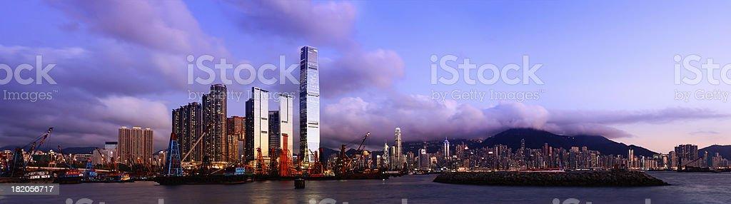 Kowloon and Hong Kong stock photo