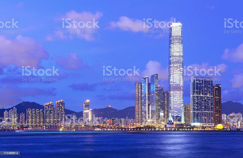 Kowloon at dusk royalty-free stock photo